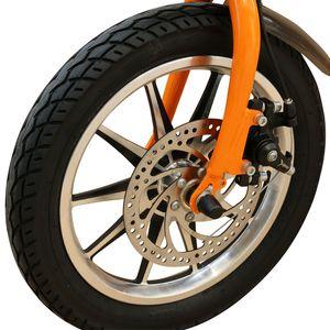 36V250W 14 pollici bicicletta pieghevole elettrica con biciclette elettriche freno motore brushless batteria al litio