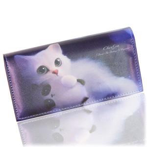Pelle Moda Donna TONUOX Portafogli morbido PU Gatti Animal Casual Pattern Lady Coin Purse Handbags riccone Portafoglio Burse Borse