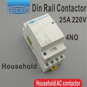 ac TOCT1 4P 25A 220V/230V 50/60 Гц Din-рейка бытовой модульный контактор переменного тока 4no модульный контактор
