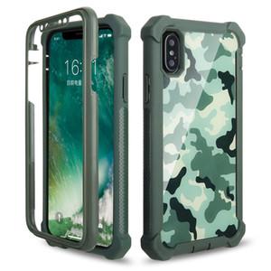 Para Samsung S10 E 5G S9 S8 Plus Nota 9 8 Camuflaje híbrido Combo 3 en 1 Funda de teléfono de Defender impresa cubierta