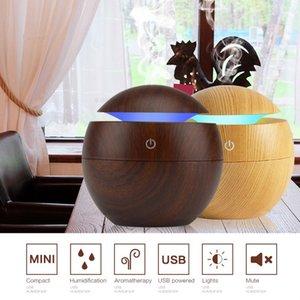 130ml Fonksiyonlu USB Aroma Esansiyel Yağı Yayıcı Ultrasonik Office için Mist Nemlendirici Hava Temizleme 7 Renk değiştirme LED Gece Işığı Soğuk