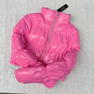 AtxyxtA Pink Bubble Puffer Jacket 2019 пальто зимы женщин Lime Зеленый Розовый Желтый Красный Черный