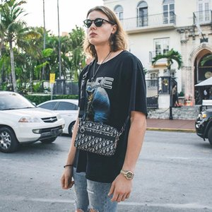 2020 US Rhude street tide over test fashion Rhude loose washing to do the old retro oversize short-sleeved t-shirt Europe and America