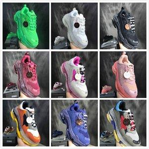 Париж для роскоши Triple S дизайнер старый повседневный кроссовки Triple-S DAD Chaussures Обувь 17FW Женщины Низкие тренажеры сапоги мужские Sneake SGDPU