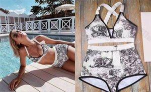 여자 디자이너 수영복 타이츠 드 베인 브랜드 비키니 정장 여름 섹시한 붕대 Badeanzug costumi 비키니는 두 조각 수영복 새로운 설정