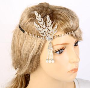 Oro rosa Grande Gatsby Wedding Bridal Crystal Fascinators Capelli Fiori Gioielli Strass Regina Copricapo Prom Hair Band Accessori