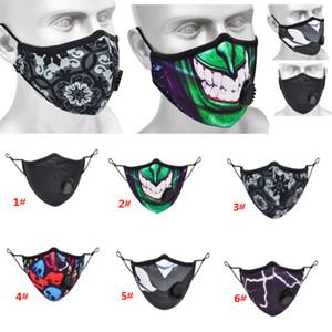 Dağ Bisikleti Yüz Bisiklet Ağız Maskesi Desen Spor Windproof Ve toz geçirmez Breable Vana HH9-3091 ile protetive Maskesi sürme maske