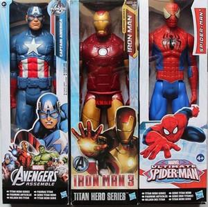 Genuina del hombre araña de Marvel Vengadores figura de acción Modelo Titan héroe Capitán América PVC 3D de 12 pulgadas muñeca de juguetes para los niños