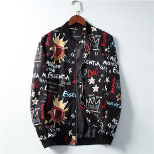 HH 2019 Brand new mens designers de casacos jaquetas Força Aérea jaqueta de piloto abelha impressão blusão Harajuku hip hop de beisebol M-3XL