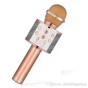 Las nuevas marcas WS858 karaoke micrófono inalámbrico reproductor portátil de música en casa mini bluetooth televisión por cable y reproductor de canto altavoz