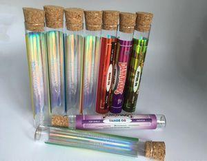 18 * 120 мм Dankwoods Плоское стекло пробка бутылки с наклейками включают бесплатный OEM-наклейки Dankwoods Backwoodsl рулонной упаковки л