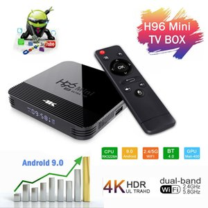 H96 Mini H8 Android 9.0 OTT TV BOX 2GB/16GB Dual WiFi 2G+5G BT4. 0 RK3228A Smart TV Box TX3 Mini