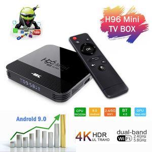 H96 Mini H8 Android 9.0 OTT TV BOX 2GB / 16GB Dual WiFi 2G + 5G BT4.0 RK3228A Smart TV Box TX3 Mini