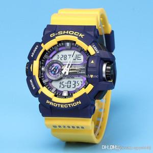 мужчины смотреть GA400 G наручных часов шок сопротивляется защиты спорт новые цифровые мод мужских LED часы вахта платье первоначально коробка Релоха hombrex