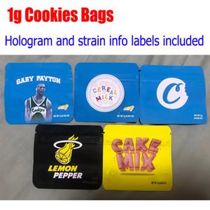 Cookies Californie SF 1G Empty Sacs d'emballage Gary Payton céréales Lait Citron poivre Mélange à gâteau biscuits réguliers pour les peaux sèches Herb Flower