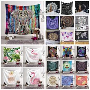 100 Styles 150 * 130 cm Tapisserie Mandala Bohème Tenture murale Serviette de Plage Châle Tapis de Yoga Tapisserie de Polyester En Plein Air Pads CCA11523 30pcs