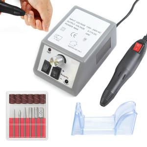 Taladro eléctrico del clavo aparato de corte para la manicura de gel removedor de cutícula molino de cuchillas para pedicura uñas Bits Arte fresado del archivo del taladro