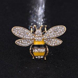 브랜드 디자이너 여성 고품질 라인 석 크리스탈 버클 브로치 고급 보석류 도매를 들어 꿀벌 브로치 핀