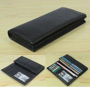 مصنع جلد طبيعي حقيقي المال رجل محفظة طويلة مخلب WL004 السعر كليب محفظة محفظة عملة حقيبة جلد البقر حقيبة جلد أسود Velar