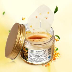 80 pc / bottiglia BIOAQUA oro Osmanthus maschera per gli occhi Nourish Idratante Gentle la cura della pelle delle donne