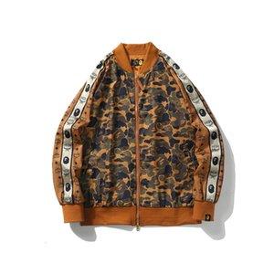 Men designer brand jacket A bathing AAPE Ape shark sweatshirt street hip hop new coat luxury camo jackets fashion windbreaker jacket selling
