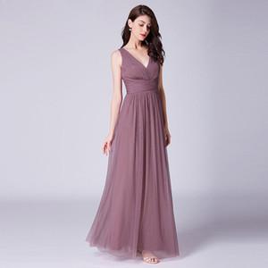 Sexy Backless lunghi abiti da sposa pieghe del pavimento di Tulle Lunghezza Accetta Custome fatto Royal Blue / bordeaux / nero