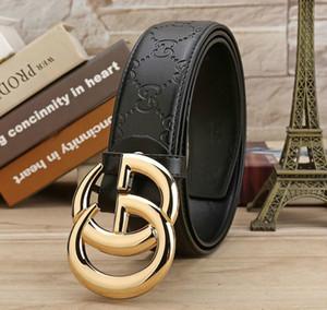 Hot AVEC BOX vente de Fashion Business 20 de style G Ceinture # ceintures conception des femmes des hommes Riem avec de l'or G # boucle de ceinture noire comme cadeau 5z85k