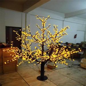 في الهواء الطلق LED الاصطناعي زهرة الكرز شجرة الخفيفة شجرة عيد الميلاد مصباح 1248pcs المصابيح و 6ft / 1.8M الطول 110VAC / 220VAC غير نافذ للمطر قطرة شحن