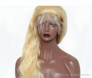 Body Wave Full Lace Wig 613# Blonde 200% Density for Women with Baby Hair Glueless Brazilian Virgin Human Hair Wigs