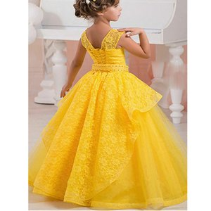 Lace Flower Girls Dresses For Wedding First Communion Dresses Party Prom Princess Gown Pageant