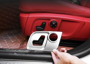 Car-Styling Asientos de ajuste de la cintura interruptor de botón Ajuste de la cubierta de lentejuelas pegatinas para Maserati Ghibli Quattroporte Levante Accesorios para automóviles