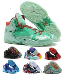 2020 Chaussures de basket Chaussures vertes Ce que les Lebrones 11 12 données de jeu Heat de Noël NSRL South Beach loin Man Hommes Designer Souliers de luxe