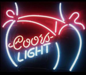 Nuovo Coors Light Bikini Girl vetro Neon Sign Beer Bar Bar personalizzare il colore Rosso Blu Verde Bianco Giallo Arancione Bianco Rosa Turchese