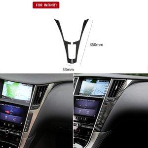 Fashion Car Interior Cornici Accessori Auto Car-bon fibra interna della copertura del centro di controllo Trim per Infiniti Q50 Q60 (2014-2019)
