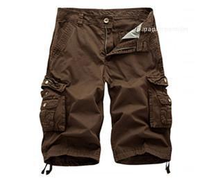 Summer Mens Cargo Pants Casual Sports Big Pockets Knee Length Designer Pants New