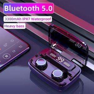 الأصل سماعات لاسلكية M11 TWS بلوتوث 5.0 في الأذن للحد من الضوضاء وسماعة هيفي IPX7 سماعة للماء الرياضة earpods HOTSELL