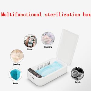 Sterilizzazione multifunzionale Box ultravioletta UV del telefono cellulare smart sterilizzatore maschere Disinfector Dispositivi di Protezione Trasporto libero da DHL