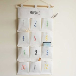 Wall Hanging Storage Bag Organizer for Organizing Toys Keys Sundries with 12 Storage Pockets Wardrobe Closet Hanging Organizer free shipping