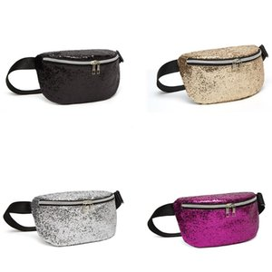 Fashion Women Girls Sequins Waist Fanny Pack Belt Bag Lady Travel Hip Bum Bag Female Small Purse Shoulder Chest Phone Pouch