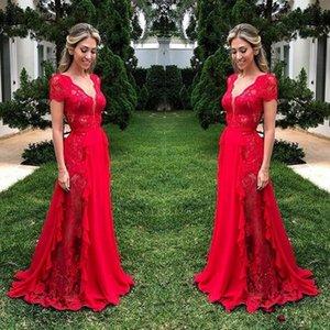 Robes de demoiselle d'honneur de dentelles magnifiques pour mariage de mariage rouge cossol housse de bonnet de la femme d'honneur robe de demoiselle de demoiselle d'honneur 2019