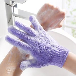 Großhandel Moisturizing Spa Hautpflege-Tuch-Bad-Handschuh Five Fingers Peeling Handschuhe Gesicht Körper Badeteile Zubehör DH0623