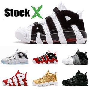 Scarpe da basket da uomo NIKE Air Scottie Pippen Triple White Sup Nero Varsity Gym Rosso Chrome Sliver Olympic 96 QS Bulls Sports Sneakers 36-47
