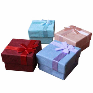 Gift Boxes Bangle Jewelry Ring Earring Watch Gift Carton Box Bowknot Case Jewelry Box Package Makeup Organizer 4X4X3cm