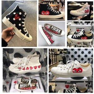 Cònvèrse X Commè des Garcòns Play Chuck Tàylor All Stàr 1970s High Top Sneakers Black Casual Canvas Shoes Plimsolls
