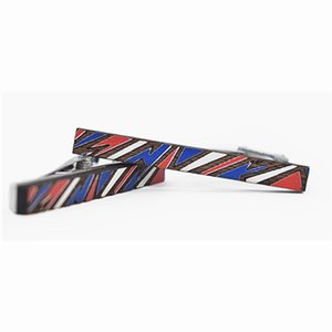 Wooden Trendy The Carbon Fiber Tie Clip Alloy Vintage Mens Wedding Gift Classical Printing Tie Clip