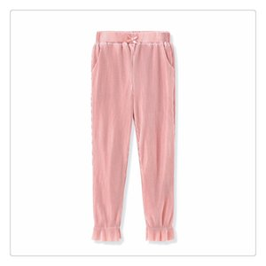 2020 new girl double bloomers light nine-minute pants lined with cotton