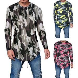 Neue Mens stilvolle Slim Fit Langarm-beiläufige O-Ansatz Shirt T-Shirts Spitzen T