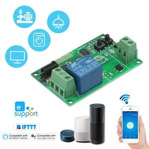 Günstige Building Automation eWeLink 5 / 12V / 220V WiFi-Schalter drahtlose Relaismodul RF 433MHz Fernschalter für Android / IOS APP Steuerung