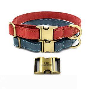 Soft Dog Collars Leather Padded Big Dog Pitbull Bulldog Collar Adjustable for Small Medium Large Dogs Beagle Collar Para Perro