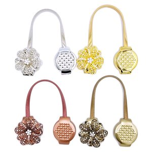 Wholesale 1 Pcs Sweet Romantic Magnet Flower Curtain Buckle Window Screening Ball Clip Holder Accessories 4 Colors